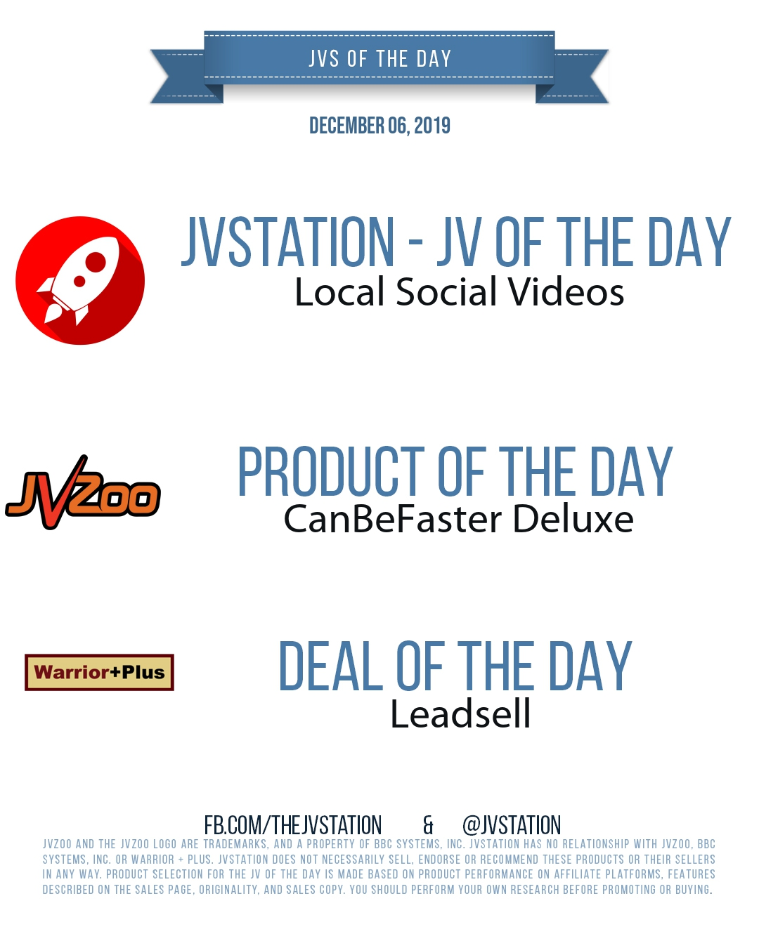 JVs of the day - December 06, 2019